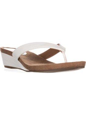 489d9c34043922 White Womens Sandals   Flip-flops - Walmart.com