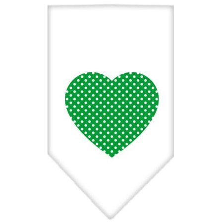 Polka Dot Bandana (Green Swiss Dot Heart Screen Print Bandana White)