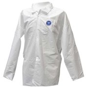 ACTION CHEMICAL A-1090-XL Disposable Long Sleeve Shirt , Xl , White , snaps