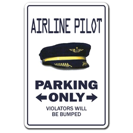 Airline Pilot Cap (Airline Pilot [3 Pack] of Vinyl Decal Stickers | Indoor/Outdoor | Funny decoration for Laptop, Car, Garage , Bedroom, Offices |)
