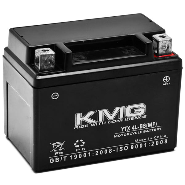 KMG® SYM 50 RS50 0-2010 YTX4L-BS Sealed Maintenace Free Battery High Performance 12V SMF OEM Replacement Maintenance Free Powersport Motorcycle ATV Scooter Snowmobile KMG