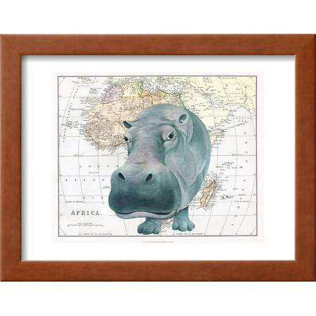 African Hippo Framed Print Wall Art By Jane Wilson - Walmart.com