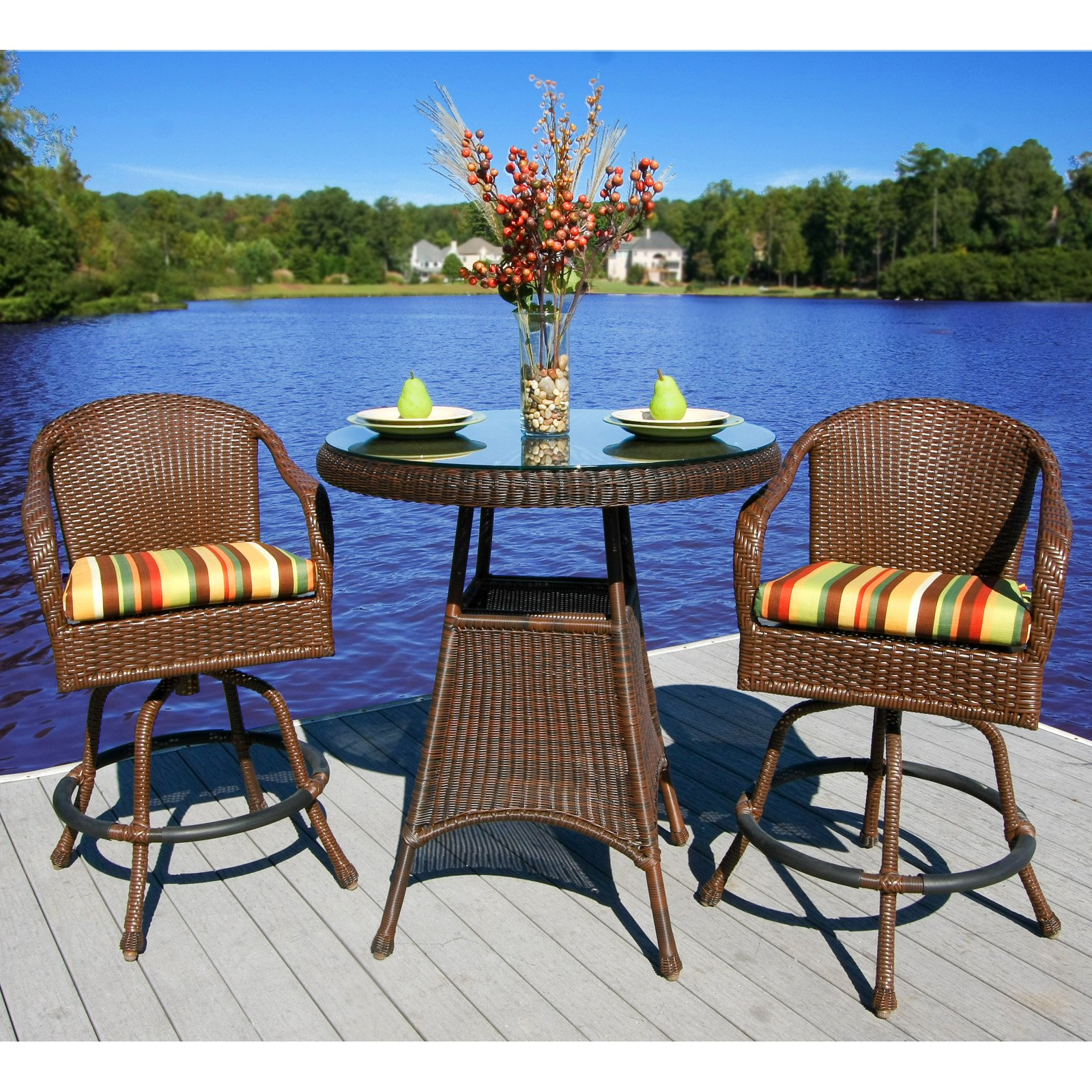 Tortuga Sea Pines Bar Height Patio Bistro Set