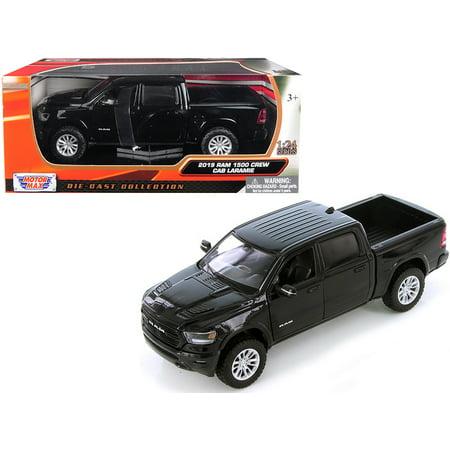 2019 Dodge Ram 1500 Crew Cab Laramie Pickup Truck Black 1/24 Diecast Model Car by
