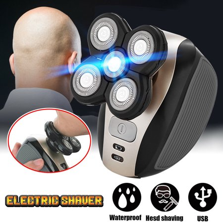 5 in 1 Rechargeable Bald Head Shaver Razor Cordless Hair Clipper Trimmer Groomer (Clipper Hear)