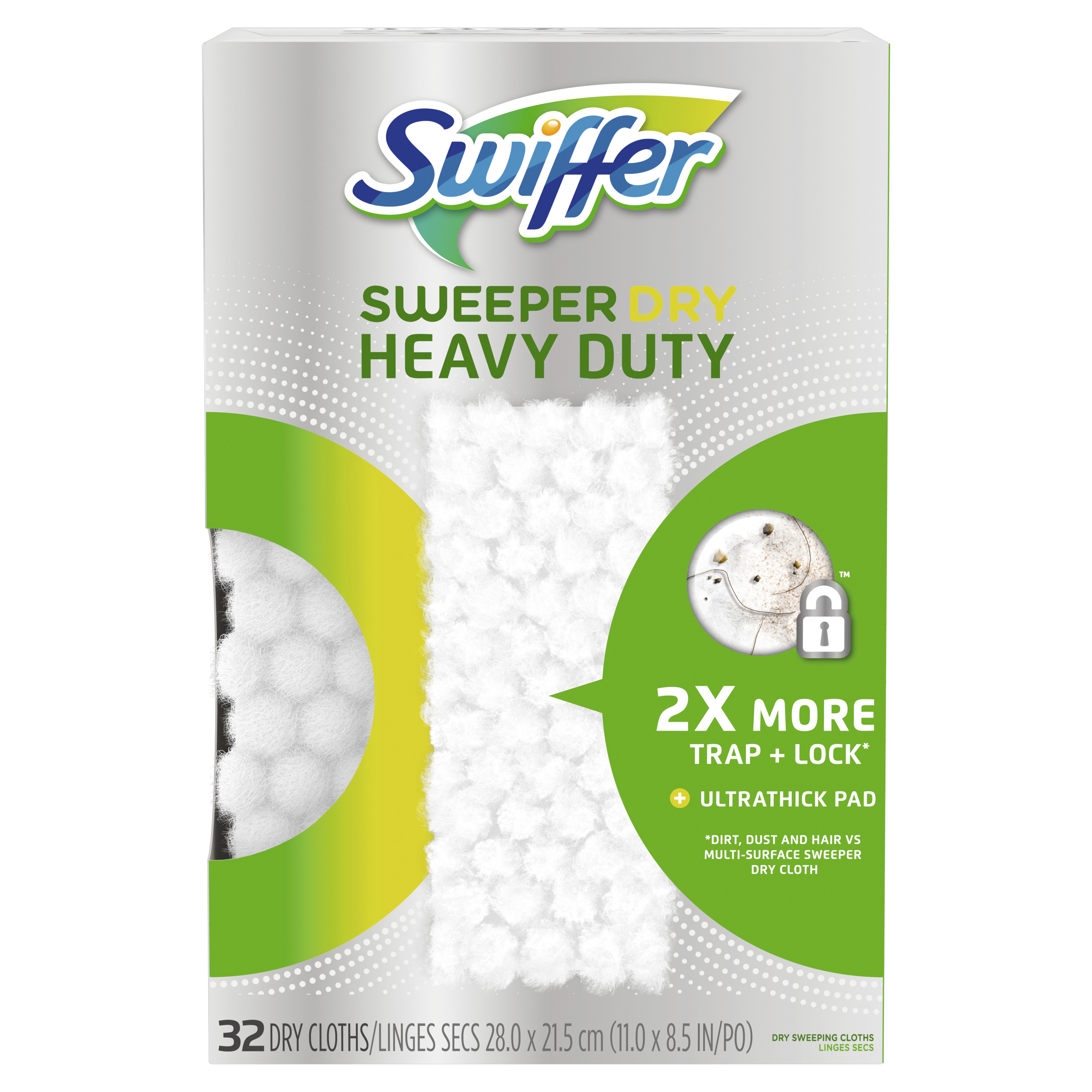 Swiffer Sweeper Heavy Duty Dry Sweeping Cloths, 32 Count
