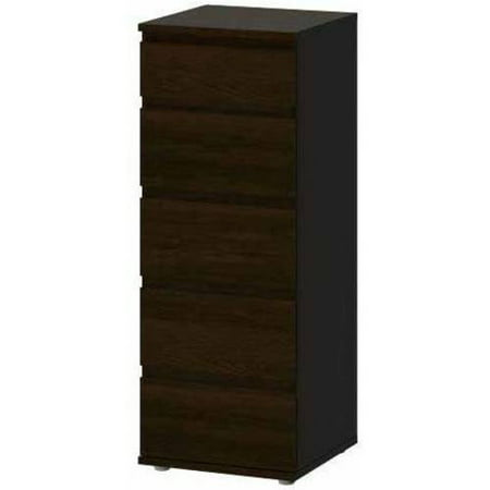 (Tvilum Aurora 5-Drawer Tall Dresser, Multiple Finishes)