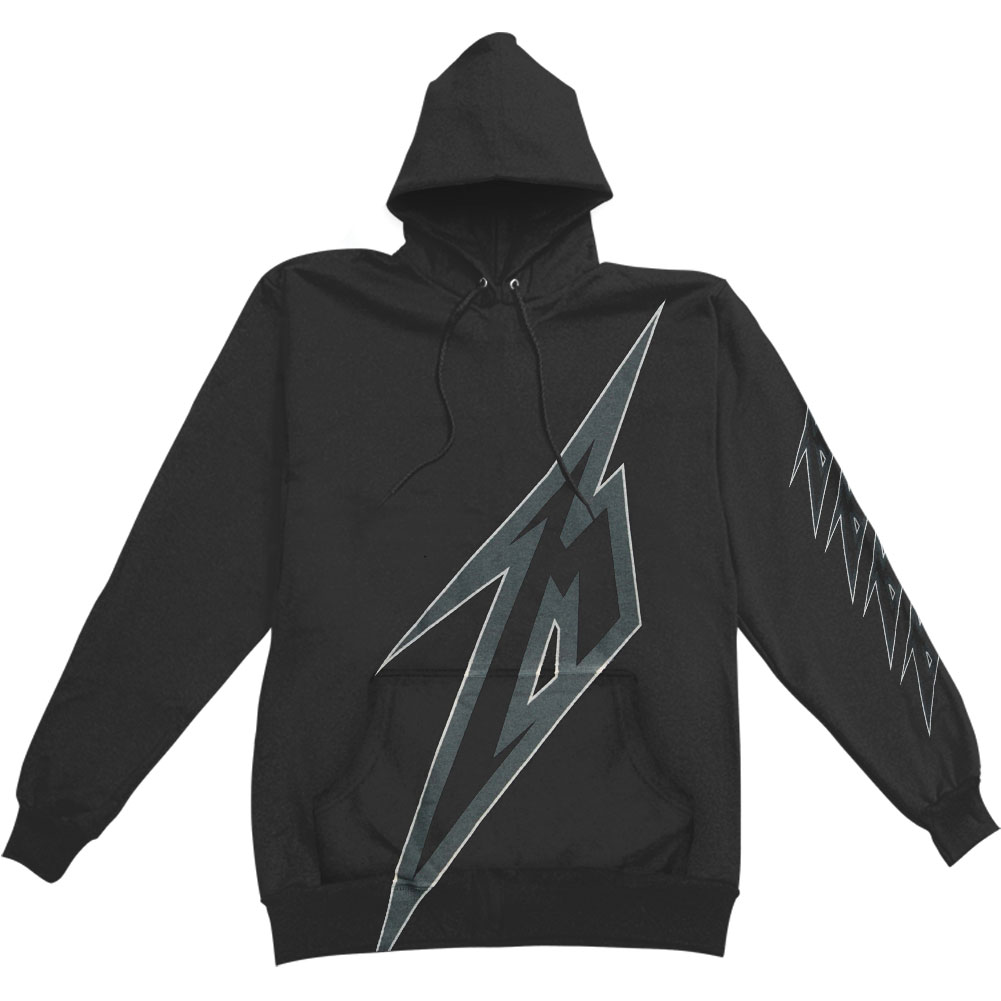 Metallica Men's  Bolt Hooded Sweatshirt Black