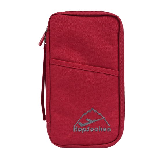 2e315d4f0392 Hopsooken Travel Wallet & Passport Holder Organizer RFID Blocking ID Card  Pouch