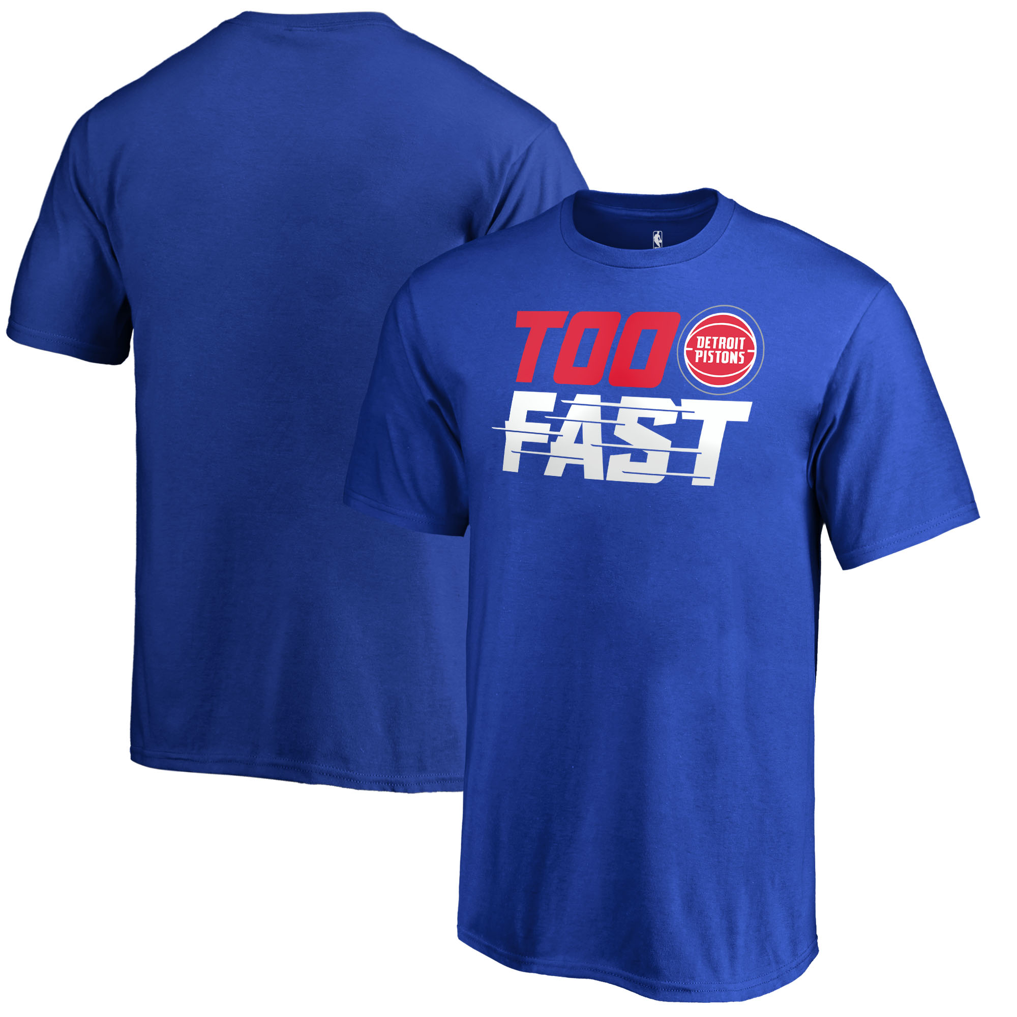 Detroit Pistons Fanatics Branded Youth Too Fast T-Shirt - Blue
