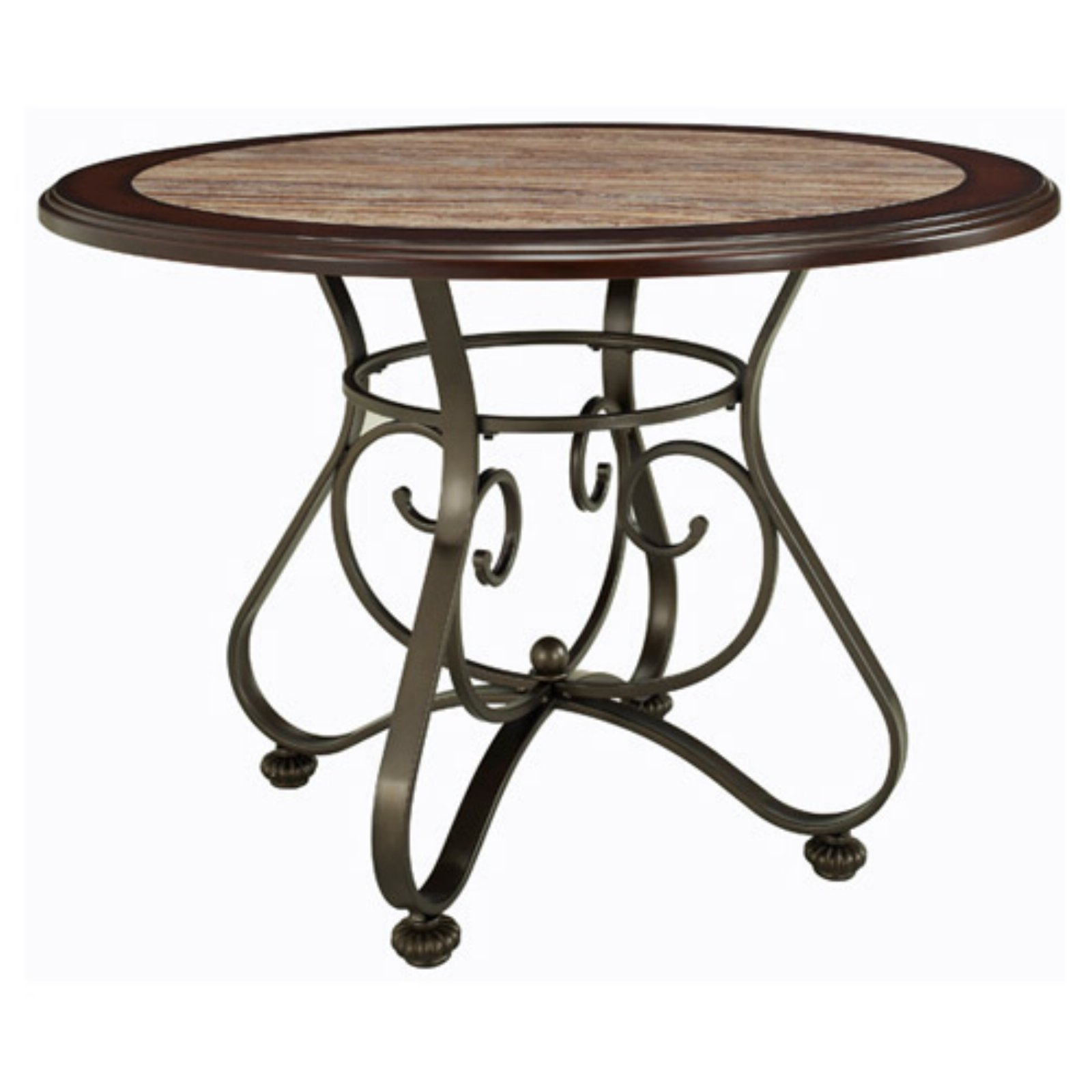 Powell Whitman Round Dining Table - Bronze