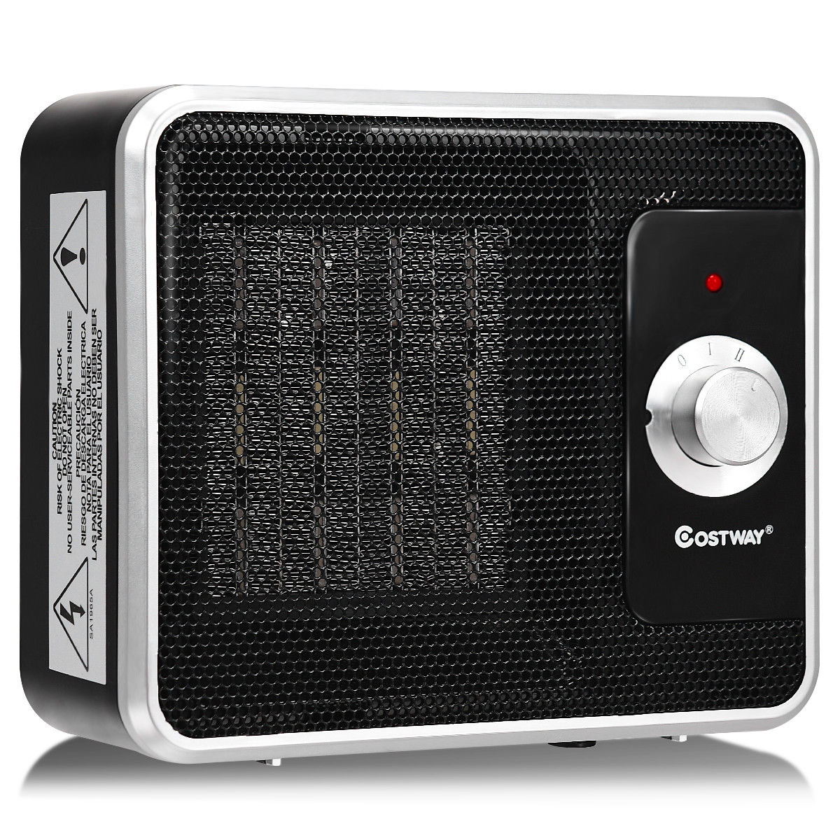 Costway 1200W Portable Electric PTC Space Heater Safety Shut-Off Tilt Protection Office