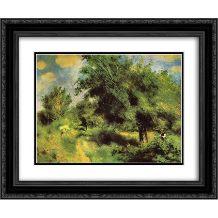 Pierre Auguste Renoir 2x Matted 24x20 Black Ornate Framed Art Print 'Orchard at Louveciennes the English Pear Tree' (Orchard Tree)