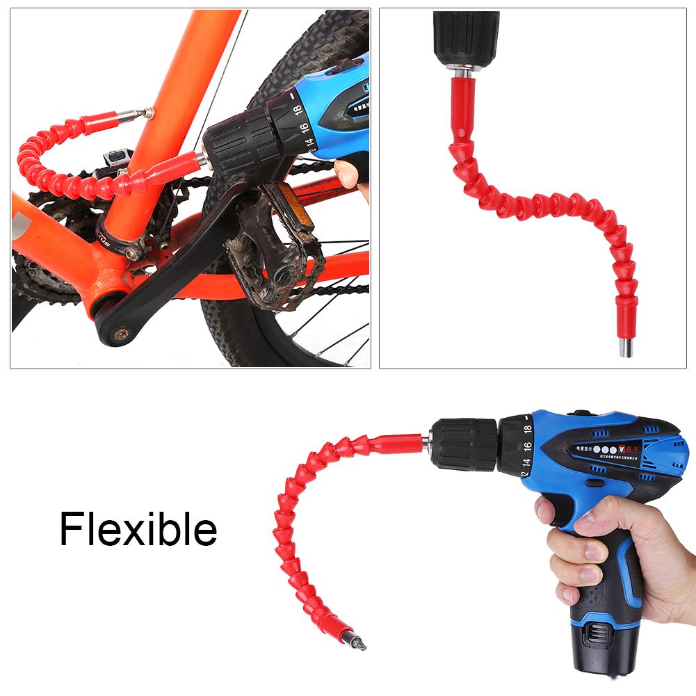 1//4 Inch Hex Drill Flexible Shaft Screwdriver Drilling Bit Holder Link Tool Set