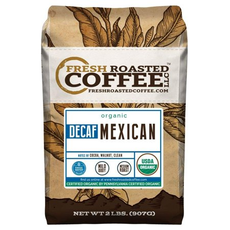 Organic Mexican Swiss Water Decaf Coffee, Whole Bean Bag, Swiss Water Processed, Fresh Roasted Coffee LLC. (2