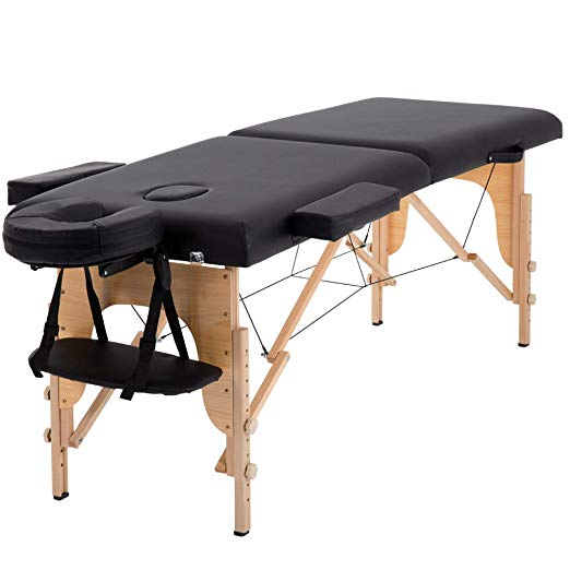 "Massage Table Massage Bed Spa Bed 73"" Long Portable 2 Folding W/ Carry Case Table Heigh Adjustable Salon Bed Face Cradle Bed"