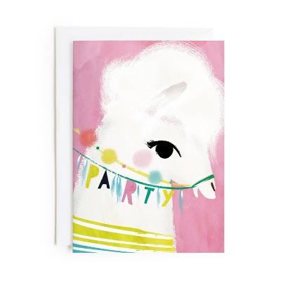 Minted Llama Birthday Card