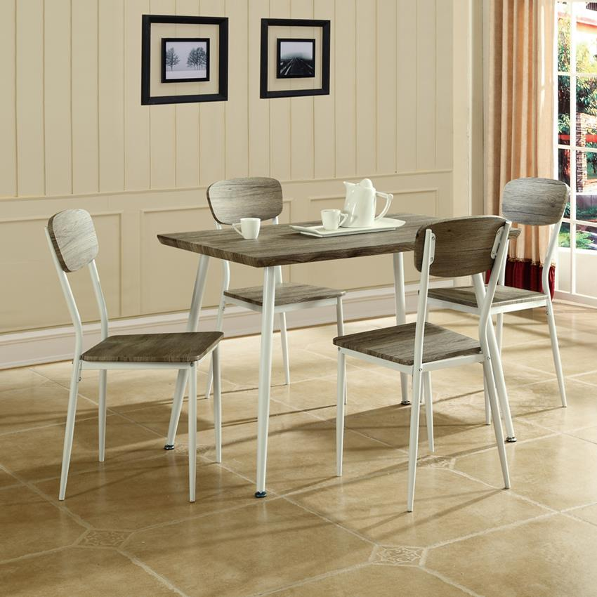 global furniture 5 piece dining room set in brown amp white global furniture global furniture 5 piece dining room set