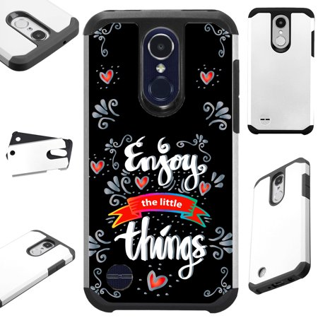 Compatible LG Rebel 4 | Rebel 3 | Phoenix 4 Case Hybrid TPU Holiday Phone Cover (Enjoy The Little - Halloween Things To Do In Phoenix