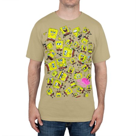 Spongebob Squarepants - Spongebob Emotions All-Over T-Shirt - Old Spongebob