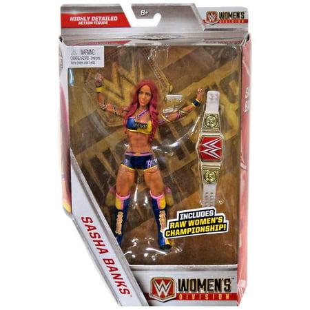 - WWE Wrestling Elite Women's Division Sasha Banks Action Figure [RAW Women's Championship]