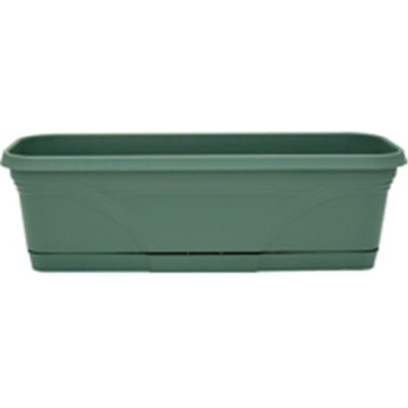 Ames-True Temper WB2412FE 24 in. Rolled Rim Window Box With Tray - Green - image 1 de 1