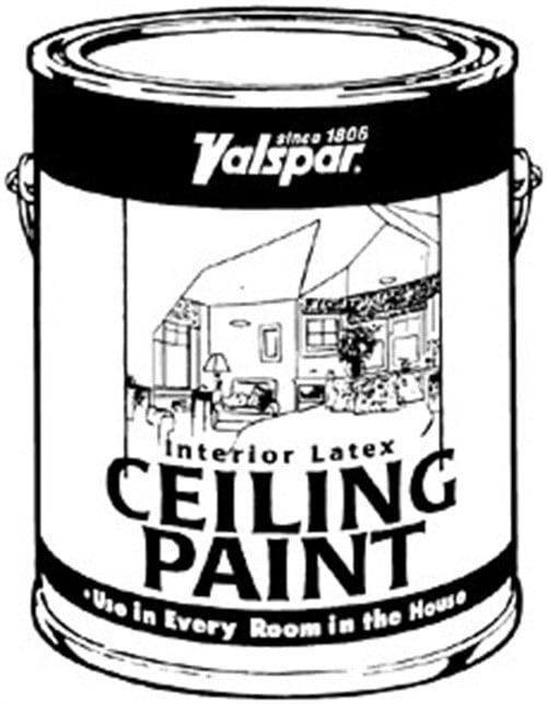 Valspar Interior Latex Ceiling Paint White 5 Gallon