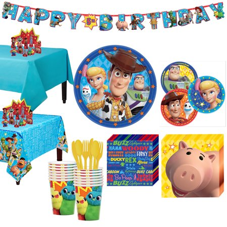 Party City Toy Story 4 Tableware Party Supplies for 16 Guests - Party City Shipping