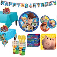 Party City Toy Story 4 Tableware Party Supplies for 16 Guests
