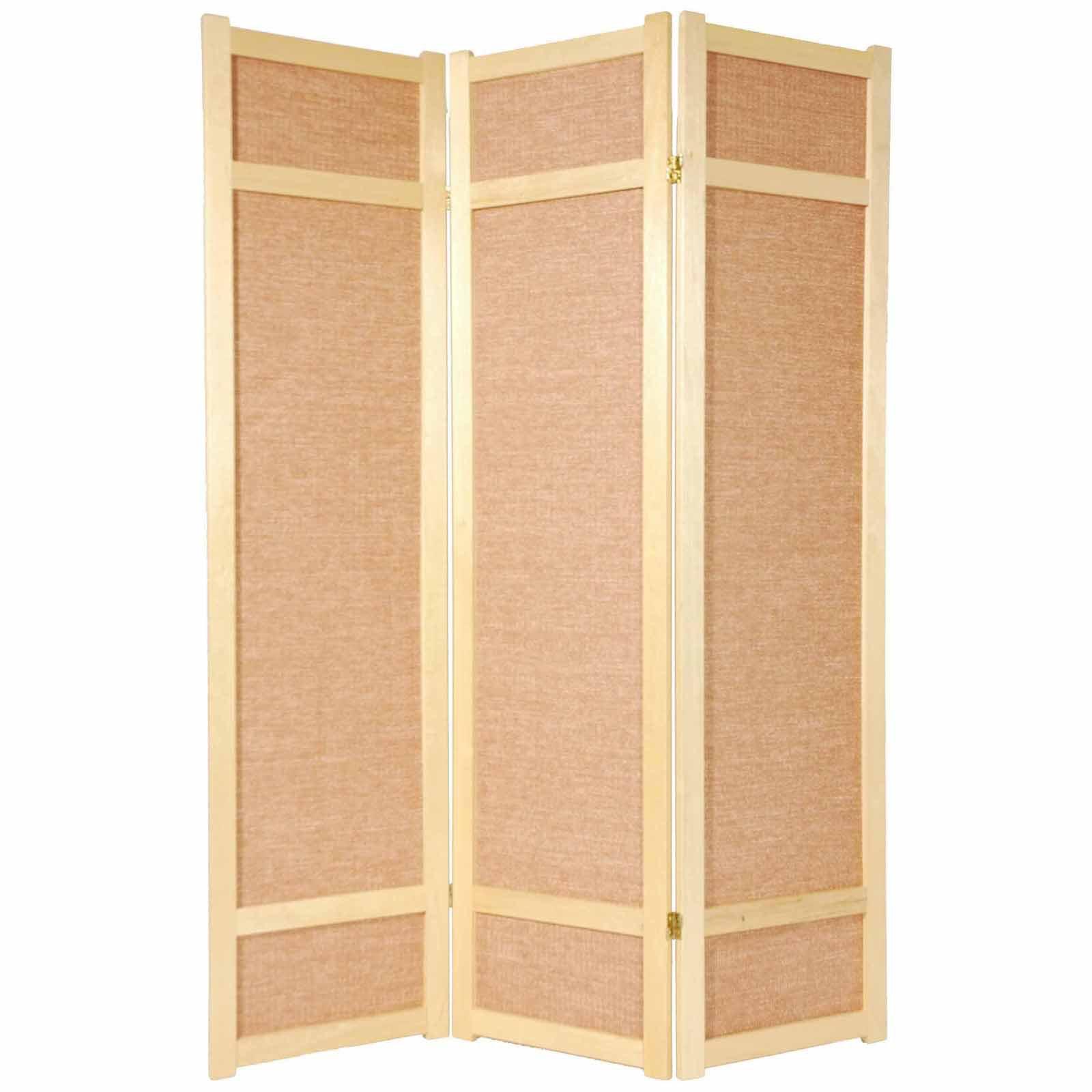 Oriental Furniture Jute Fiber 72 Inch Room Divider