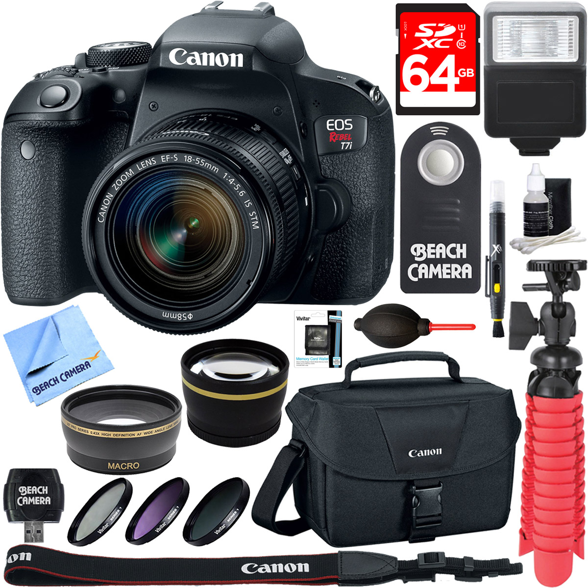 Canon EOS Rebel T7i Digital SLR Camera with EF-S 18-55mm