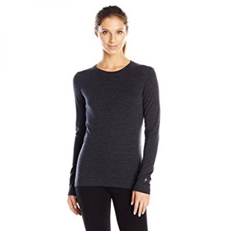 Smartwool Women's NTS Mid 250 Crew (Charcoal Heather) Small