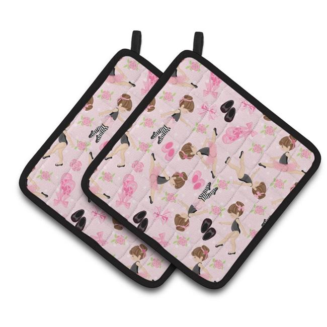 Carolines Treasures BB5172PTHD Ballerinas & Roses Pair of Pot Holders - image 1 of 1