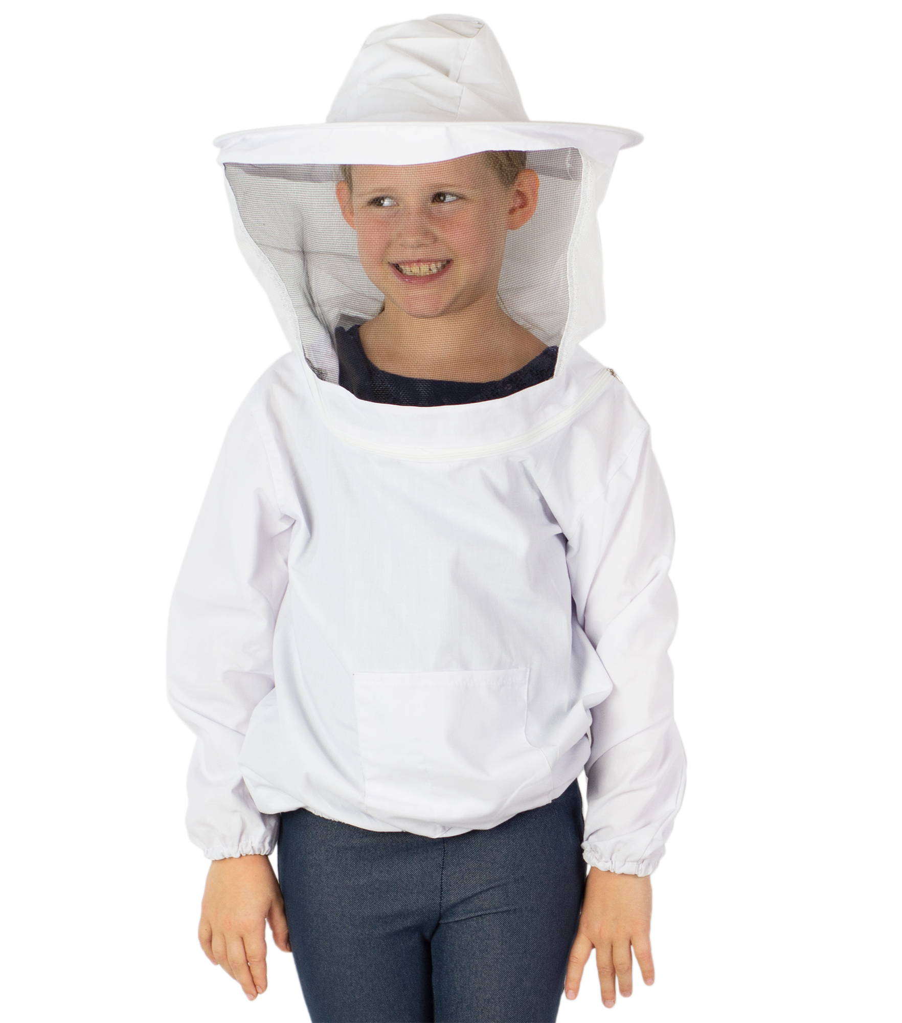 white Beekeeping Jacket Veil Smock Protective Equipment Bee Hat Sleeve Suits new