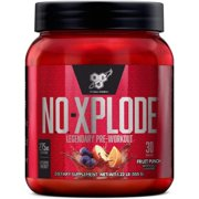 BSN N.O Xplode Pre-Workout Powder, Fruit Punch, 30 servings