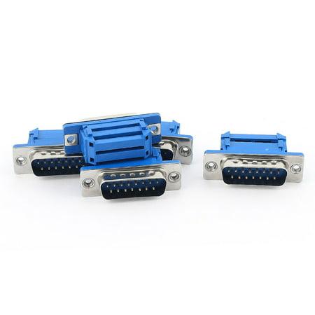Unique Bargains 5pcs D-SUB DB15 15 Pin Male IDC Type Crimp Connector for Flat Ribbon Cable