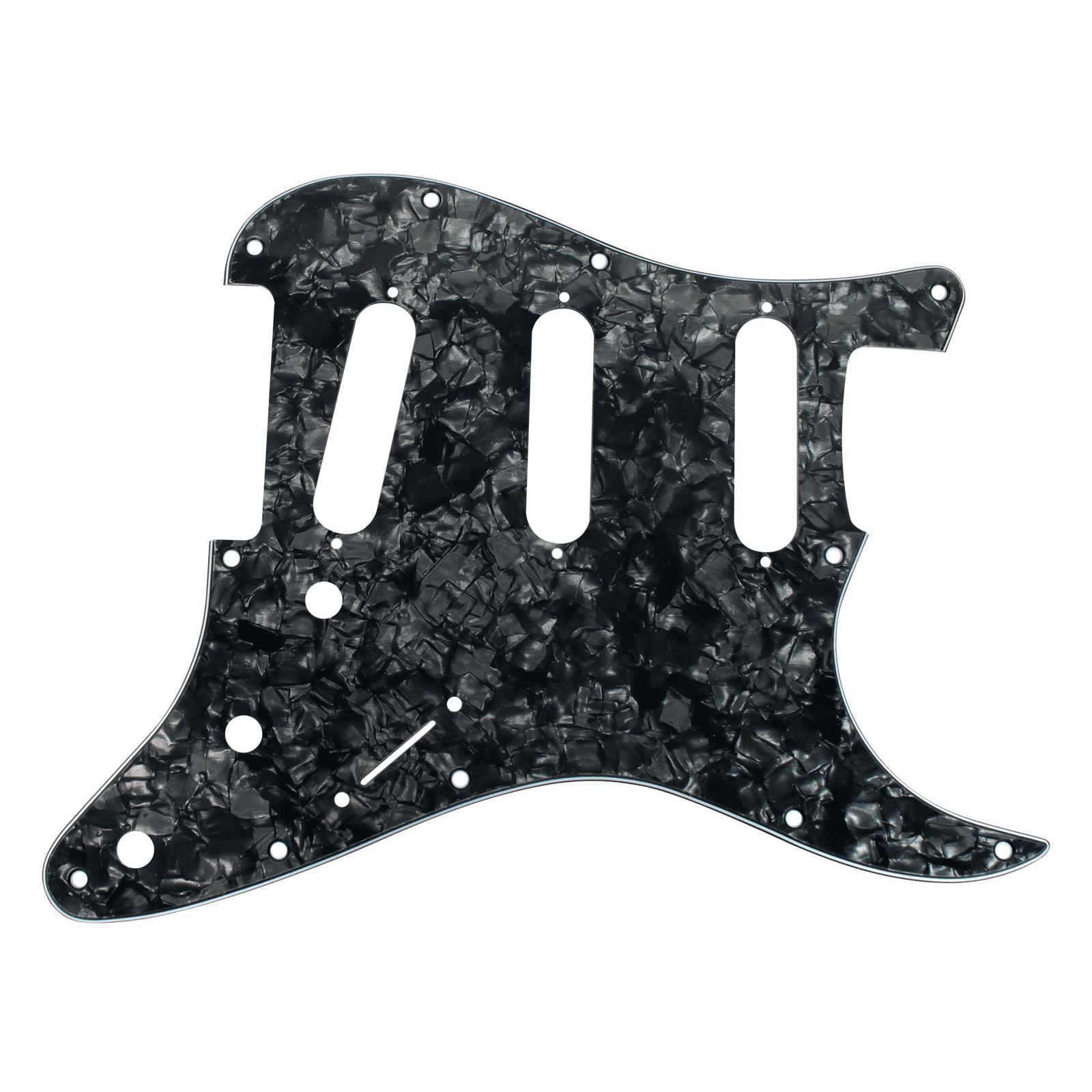 920D CS Black Pearl 3 Ply Pickguard Fender Stratocaster Strat CNC Presicion Cut by