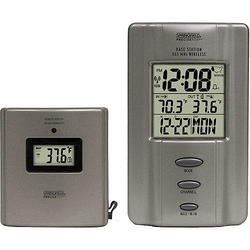 Springfield Multi-Zone Wireless Thermometer With Radio-Controlled Clock