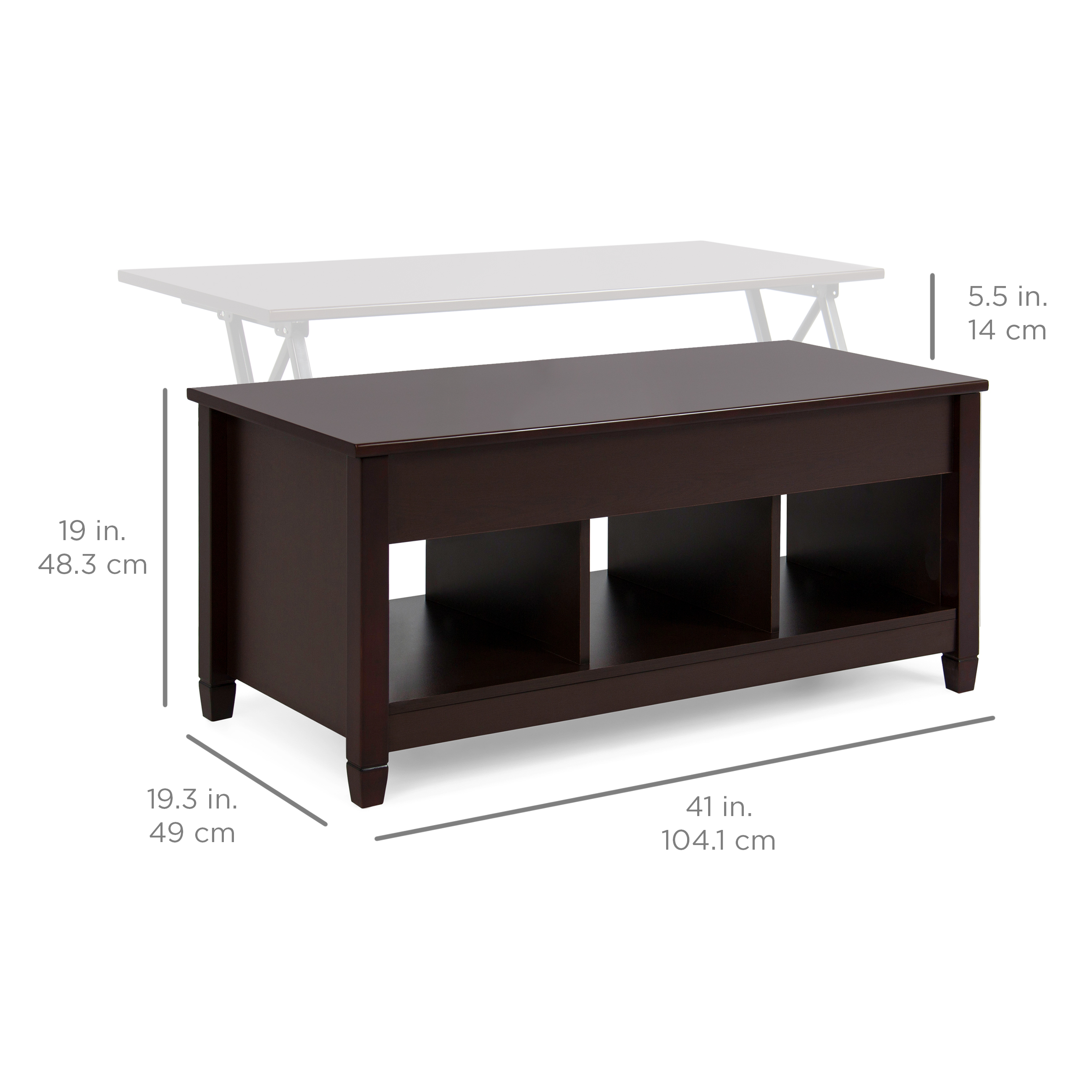 Best Choice Products Home Lift Top Coffee Table Modern Furniture W