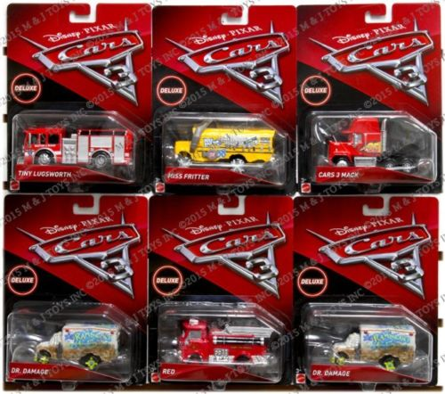 Hot Wheels 1:64 DISNEY PIXAR CARS 3 DELUXE OVERSIZED CHAR...