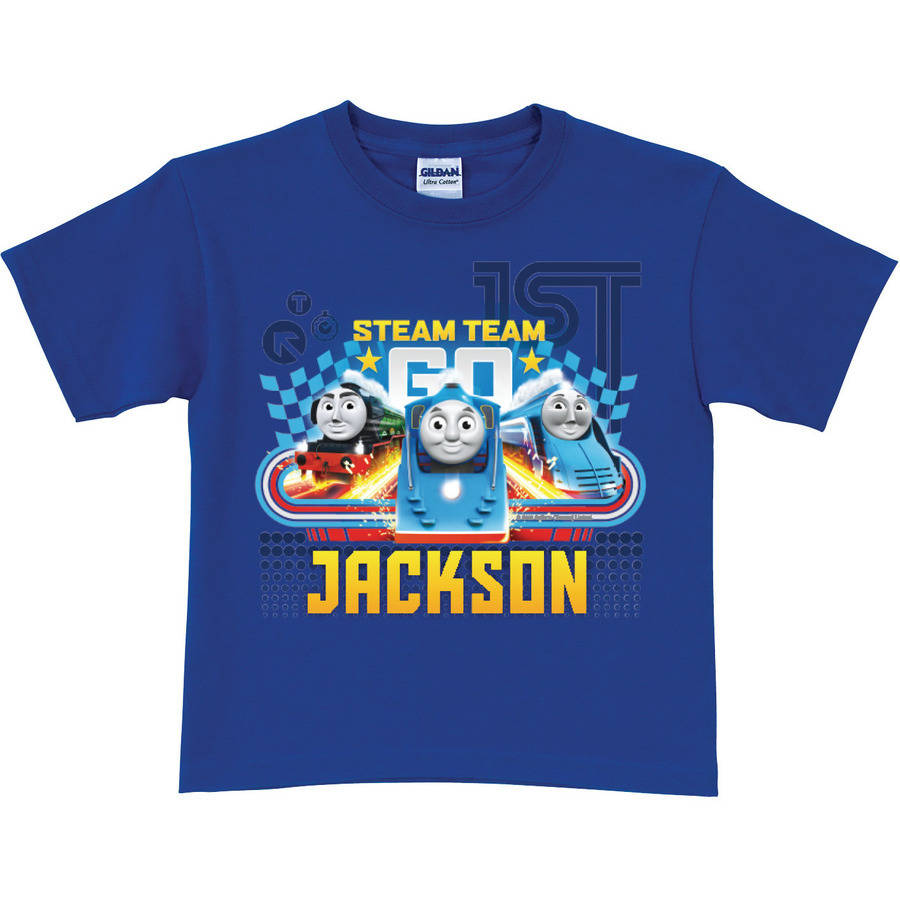 Personalized Thomas and Friends Steam Team Toddler Blue Tee