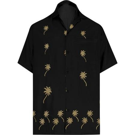 Embroidered Short Sleeve Work Shirt - Hawaiian Shirt Mens Beach Aloha Camp Party Casual Holiday Short Sleeve Embroidered Rayon F