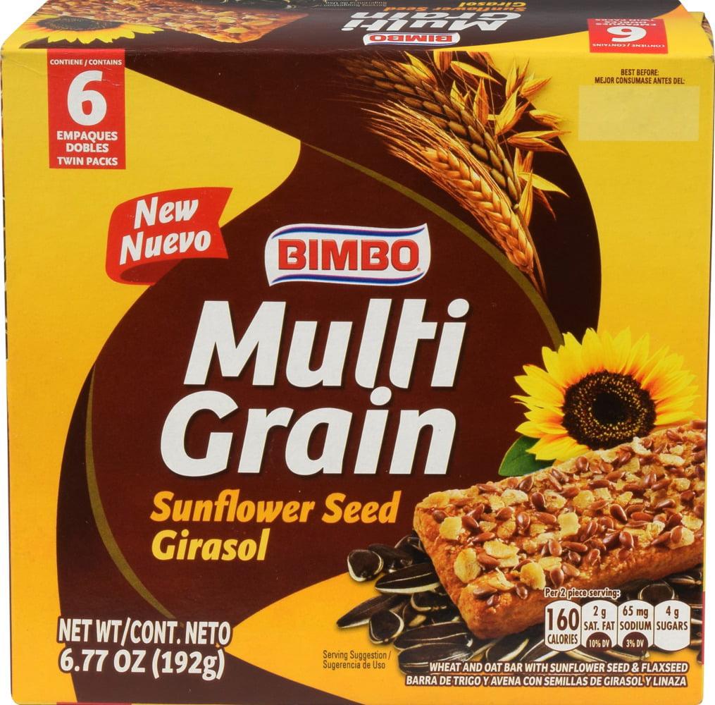 Bimbo Multigrain Sunflower Seed Bars, 6.77oz., 6ct.
