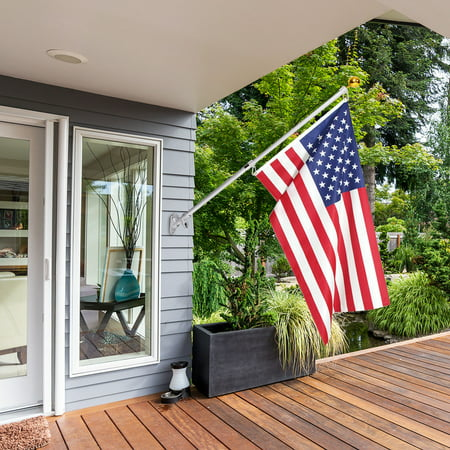 Costway American Flag Kit Wall Mount 5 Ft Spinning Pole 3