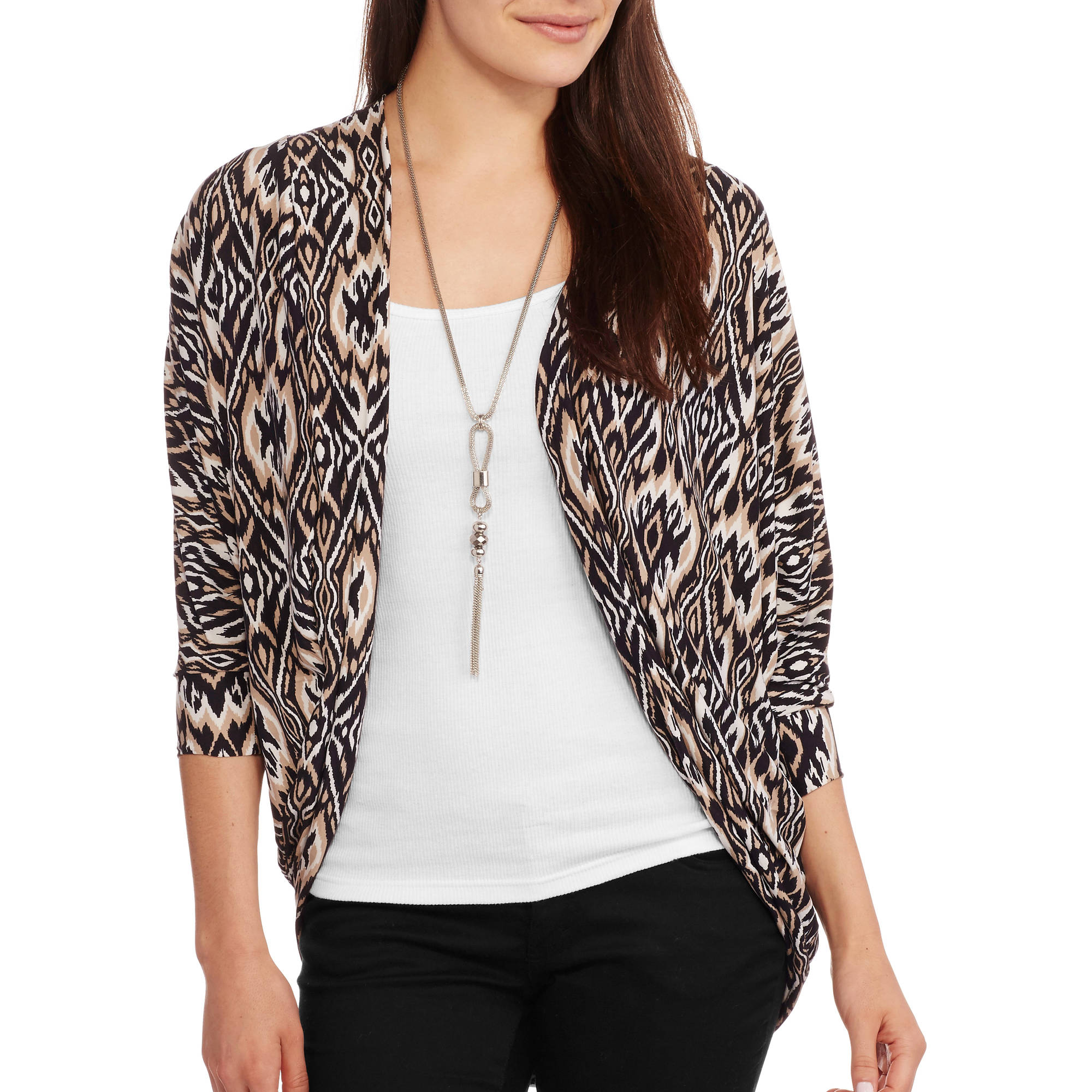 French Laundry Women's Super Soft Knit Kimono Wrap