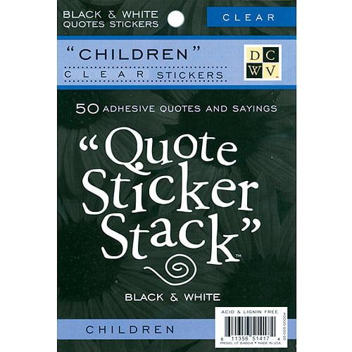 Quote sticker stack