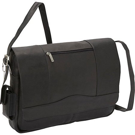 Top Zip 3/4 Flap Over Messenger Bag w Laptop Compartment