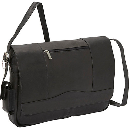 David King & Co. 3/4 Flap Laptop Messenger