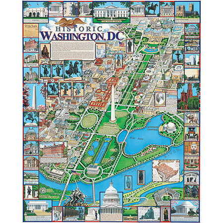 White Mountain Puzzles Washington, DC Puzzle, 1000 Pieces