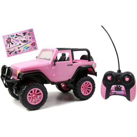 Jada Toys GirlMazing 1/16 Scale Remote Control Pink Jeep ()